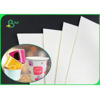 China 160gsm 190gsm 210gsm Single PE Laminated Paper Cup Base Paper For Cups wholesale