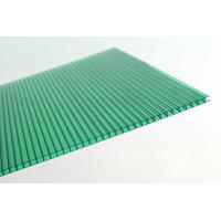 China Anti Fire Green Plastic Corrugated Roofing Sheets , Polycarbonate Wall Panels wholesale