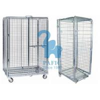 China 5pcs Wire Mesh Enclosures Delivery Roll Cages Power Coated Surface wholesale