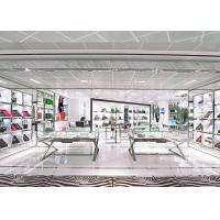Quality Attractive Retail Shop Handbag Display Shelves White Coating Finished Surface for sale