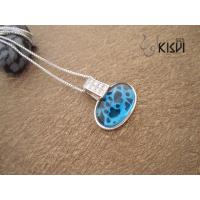 China Quality guarantee & low price silver gemstone pendant with shiny blue crystal W-VB900 wholesale