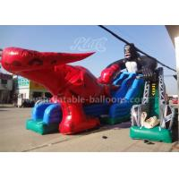 China 15mL Giant Dinosaur Inflatable Slide , King Kong Water Slide Park For Adults wholesale