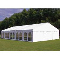 China PVC Tarpaulin Garden Party Tent , Outside Tent Weddings 5 M Bay Distance wholesale