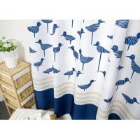 China Waterproof Printed White Bathroom Shower Curtains Thickening Plated Style wholesale
