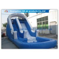 China Amusement Park Bounce Round Water Slide Inflatable Slide With Pool wholesale