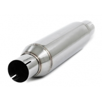 China Round 1.2mm 4 Inch Inlet Outlet Car Exhaust Resonator wholesale