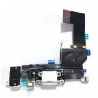 China iPhone 5S Dock Connector Charging Port Flex Cable Replacement - White wholesale