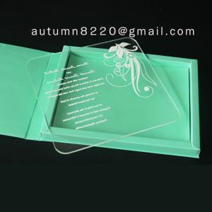 China clear acrylic invitation wholesale