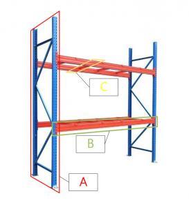 China Powder Coated Q235 Steel Warehouse Storage Heavy Duty Metal Pallet Rack wholesale