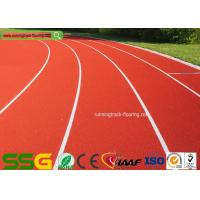 Buy cheap Red Self-forming Surface Mixed PU Atheletic Sport Running Track 13mm Thickness from wholesalers