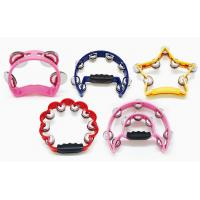 China Plastic bell Toy Music Instrument Orff Instruments Colorful Tambourine Music Toy Gift wholesale