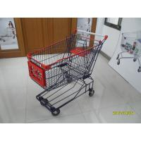 150L Wire Mesh Grocery Store Shopping Cart With 5 Inch TPE Caster