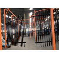 China Pressed spear top galvanized powder coated garrison steel fence 1.8m*2.3m rails SHS 50mm on sale