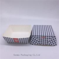 China Disposable Square Cupcake Liners , Black And White Checkered Cupcake Wrappers wholesale