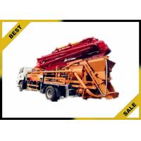 China Hydraulic 120kw Generator Cement Pump Truck , Concrete Crane Truck With 30kw Pumping Motor wholesale