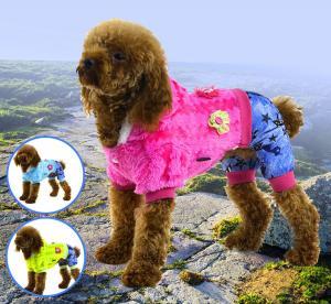China Pet clothes flush soft warm apparel dog clothes wholesale