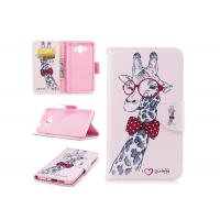 China Lovely Giraffe Card Pocket Phone Case , Cell Phone Wallet Case For Huawei wholesale