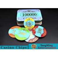 Buy cheap Customizable Casino Poker Chips of Crown Bronzing from wholesalers