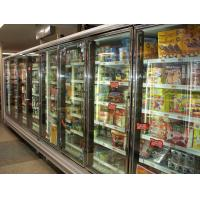 China Self Service Upright Multideck Open Chiller , Glass Fronted Fridge With Curved Glass wholesale