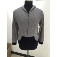 China Autumn / Winter Men Knit Sweater Hooded Long Sleeve 12gg Guage Size 330g Weight wholesale