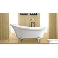 China Classical 67 Inch Acrylic Soaking Tubs , Zinc Alloy Claw Foot Freestanding Slipper Tub wholesale