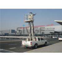 Quality Truck Mounted Boom Lift , Vertical Double Mast Hydraulic Elevating Platform for sale