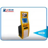 China PC Built In Touch Screen Information Kiosk For Business Center , Yellow Blue wholesale