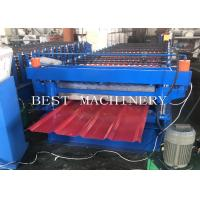 China PPGI Steel Two Layer Corrugated Roof Sheeting Machine , Roof Sheet Rolling Machines wholesale