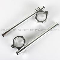 China 46mm Adjustable AluminumMotorcycle Clip On Handlebars ZX6R ZX9R ZRX 1100 1200 CNC Machined wholesale