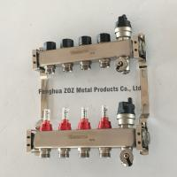 China Under Floor Central Heating Manifolds ,Stainless Steel Flow Meter Manifold on sale