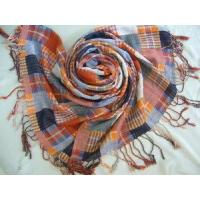 China Yarn Dyed Checked Cotton Scarf (HP-C262) wholesale