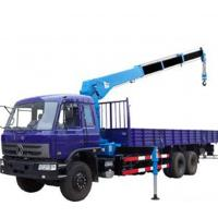 China Hydraulic Knuckle Boom Truck Crane With Working Platform & Lifting Hook wholesale