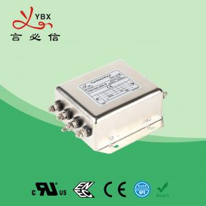 China Low Pass PV Inverter EMI Filter , DC EMI RFI Noise Filter Metal Case wholesale