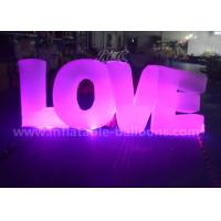 China Valentine'S Day Decorative Inflatable Lighting Balloon Colorful Love Letters Shaped wholesale