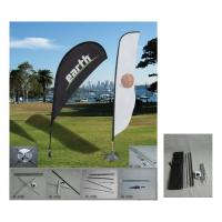 China Display Feather Custom Beach Flags Stitching Grommet Outdoor Teardrop Banners wholesale