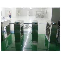 China Electric Stainless Steel Access Control Turnstiles , Revolving Tripod Barrier Gate wholesale