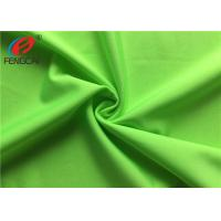China Breathable Dry Fit Strecth Polyester Elastane Fabric For Sportswear , Green Color wholesale