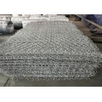 China Hot Dipped Electro Galvanized Stone Cage Wire Mesh 60x80mm Size ISO9001 Listed wholesale