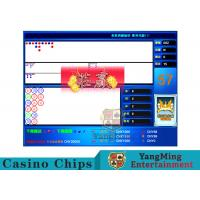 China Blue Baccarat Gambling Systems Flexible With Cancellation Back Functions wholesale