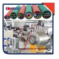China Air blowing Telecommunication PE microduct  extruder machine 5/3.5mm, 10/8mm,12/10mm wholesale