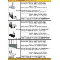 Quality 2015 Cell Phone GSM 3G 4G LTE GPS WIFI GPRS WLAN Signal Jammer Blocker Catalog for sale