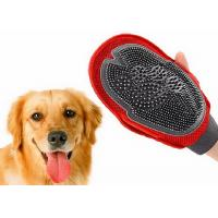 2 In 1 Red Durable Pet Massage Glove Silicone Pets Bathing Cleaning 130g