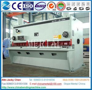 China Hydraulic Guillotine Shearing Machine , Hardware Steel Plate Cutting Machine wholesale