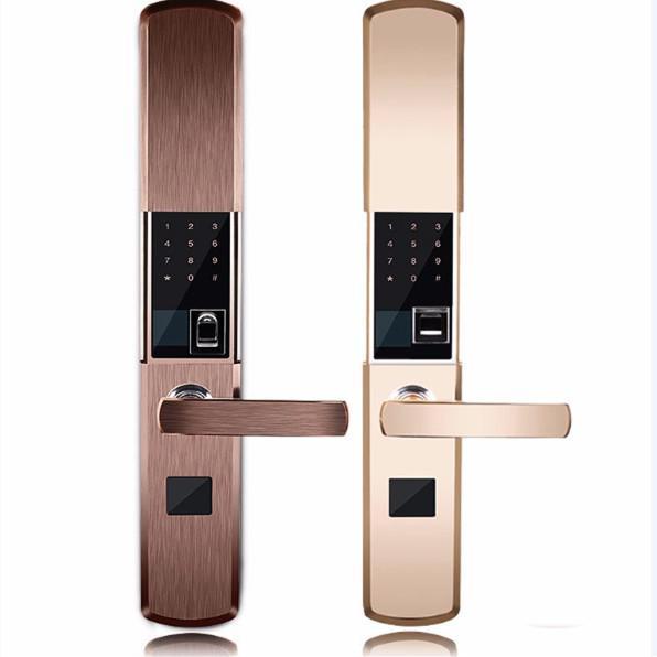 Quality Intelligent Zinc Alloy Fingerprint Door Lock With Super C Class Cylinder for sale