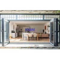 China Shopping Mall External Bifold Doors Large Opening Area 6063 -T5 Aluminum Profile wholesale