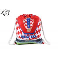 China Hrvatska Rope Athletic Printed Drawstring Backpack Promotional Sport Gym wholesale