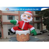 China 10m Big Inflatable Holiday Decorations / Blow Up Father Christmas wholesale