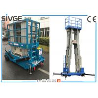 China Aluminum Alloy Multi Mast Aerial Work Platform 14m Height With 200 kg Load wholesale