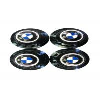 China High Performance Auto Exterior Accessories , Blue Metal Emblem Rim Center Caps  wholesale