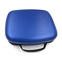 China PU Surface Hard Tool Case For Air Travel / Blue Hard Carrying Case Embossed LOGO wholesale